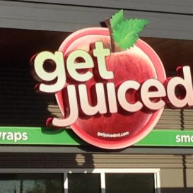 Get Juiced - exterior sign