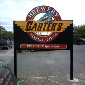 Carter's Brewery - monument sign