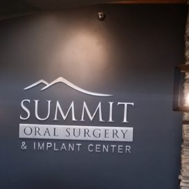 Indoor wall sign for Summit Oral Surgery