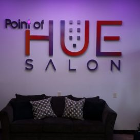 Interior sign for a salon