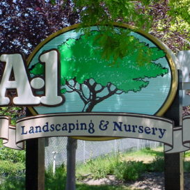 A-1 Landscaping - faux wood sign