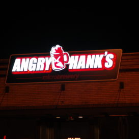 Angry Hank's - Lighted brewery sign
