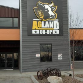 AgLand Co-Op - top-lit exterior sign