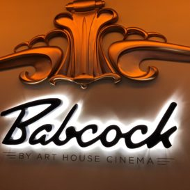 Babcock Theater - Interior backlit sign