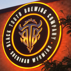Black Tooth Brewing Company - Lighted exterior signage