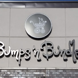 Bumps 'n Bundles - boutique sign