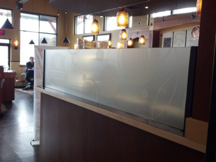 Faux frosted glass divider