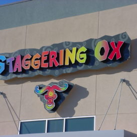 Staggering Ox - Building sign for a restaurant