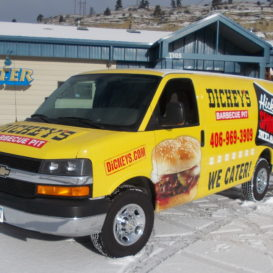 Vehicle graphics for Dickey's Barbecue Pit