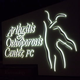 Lighted sign for medical office