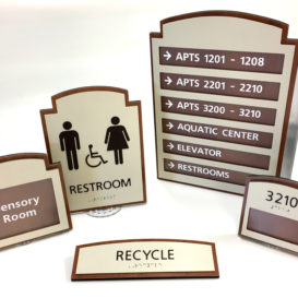 Wayfinding sign set