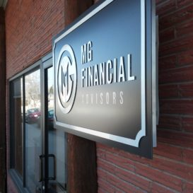 MG Financial Advisors - Exterior sign