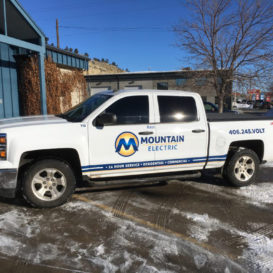 Truck lettering for Mountain Electric.