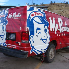 Full vehicle wrap for Mr. Rooter