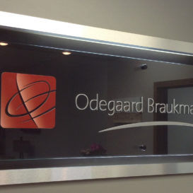 Odegaard Braukmann Law - Interior sign