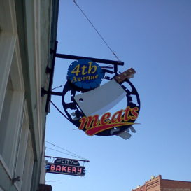 4th Ave Meats - Custom exterior sign