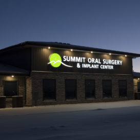Summit Oral Surgery - Large lighted sign