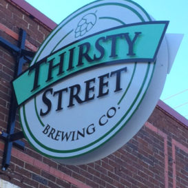 Thirsty Street Brewing Co - Storefront signage