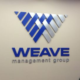 Weave Management Group - lobby sign