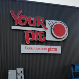 Your Pie - Restaurant sign