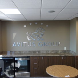 Avitus Group - break room wall sign