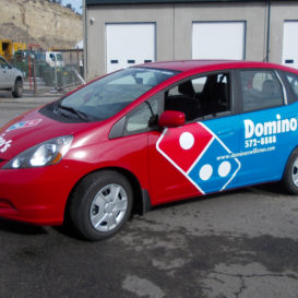 Domino's delivery vehicle graphics