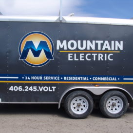 Trailer graphics for Mountain Electric