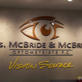 Vision Source - Lobby sign